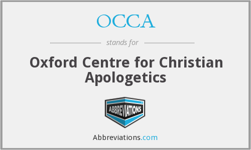OCCA - Oxford Centre for Christian Apologetics