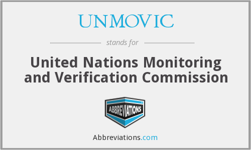 UNMOVIC - United Nations Monitoring and Verification Commission