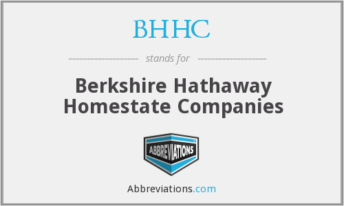 BHHC - Berkshire Hathaway Homestate Companies