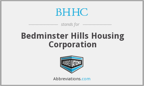 BHHC - Bedminster Hills Housing Corporation