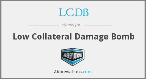 LCDB - Low Collateral Damage Bomb