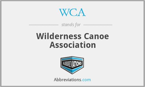 WCA - Wilderness Canoe Association