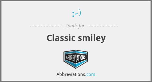 :-) - Classic smiley