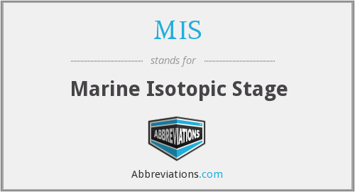 MIS - Marine Isotopic Stage