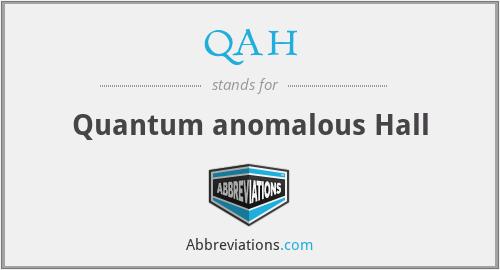 QAH - Quantum anomalous Hall