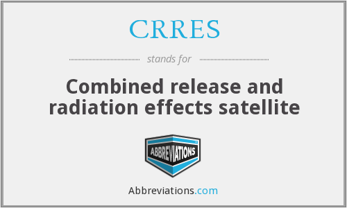 What does CRRES stand for?