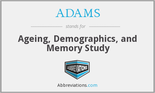 ADAMS - Ageing, Demographics, and Memory Study