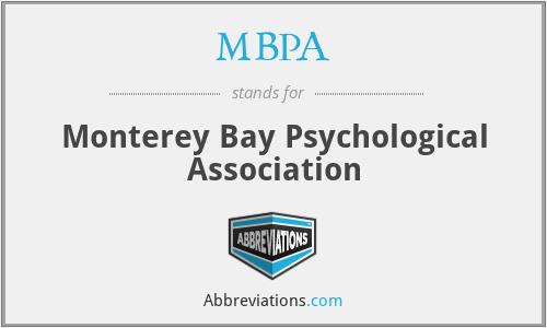 MBPA - Monterey Bay Psychological Association