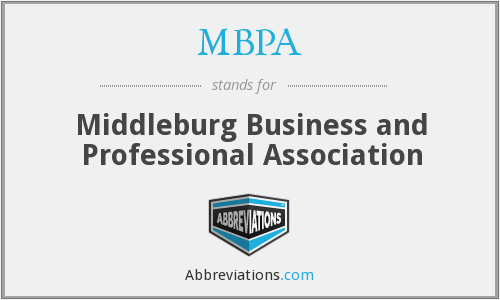 MBPA - Middleburg Business and Professional Association