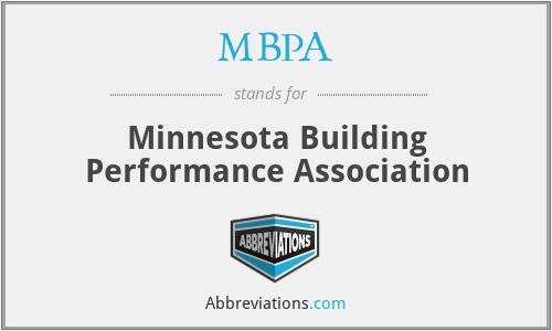 MBPA - Minnesota Building Performance Association