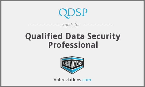 What does QDSP stand for?