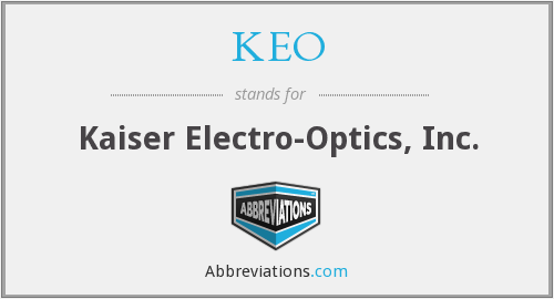 What does KEO stand for?