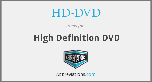 What does HD-DVD stand for?