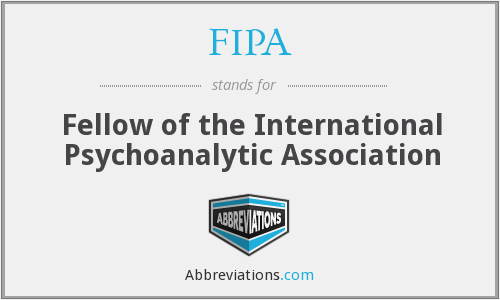 FIPA - Fellow of the International Psychoanalytic Association