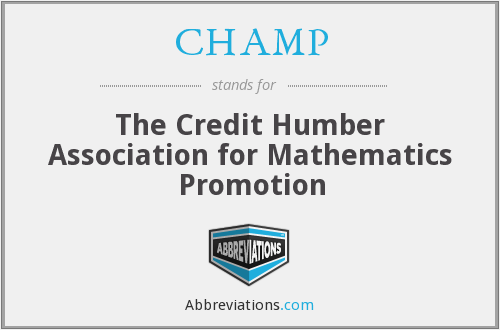 CHAMP - The Credit Humber Association for Mathematics Promotion