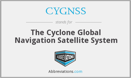 What does CYGNSS stand for?