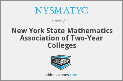NYSMATYC - New York State Mathematics Association of Two-Year Colleges