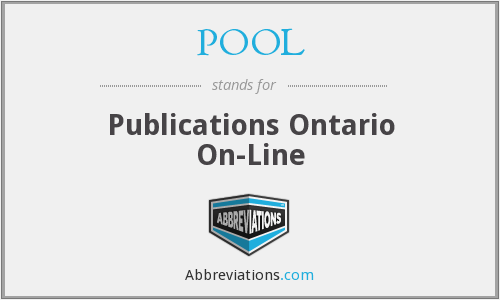 POOL - Publications Ontario On-Line