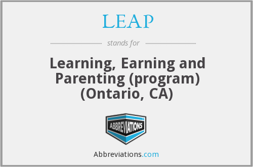 LEAP - Learning, Earning and Parenting (program) (Ontario, CA)
