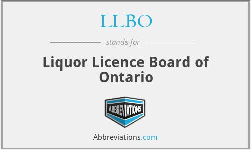 LLBO - Liquor Licence Board of Ontario