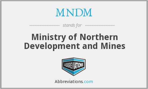 What does MNDM stand for?
