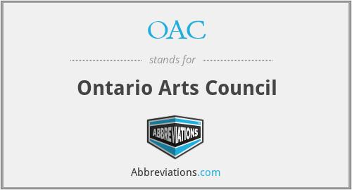 OAC - Ontario Arts Council