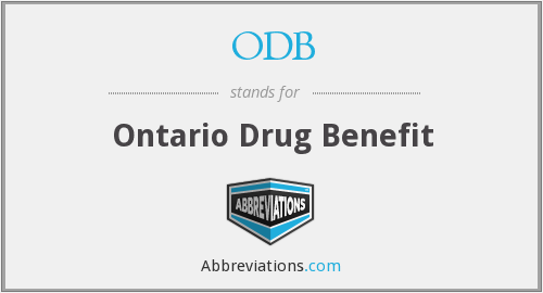 ODB - Ontario Drug Benefit