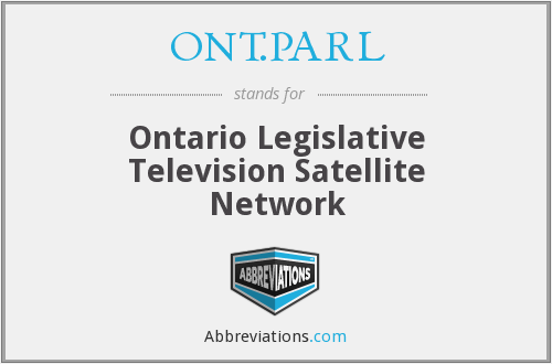 ONT.PARL - Ontario Legislative Television Satellite Network