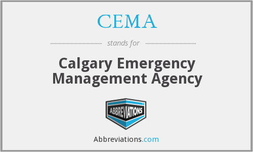 CEMA - Calgary Emergency Management Agency