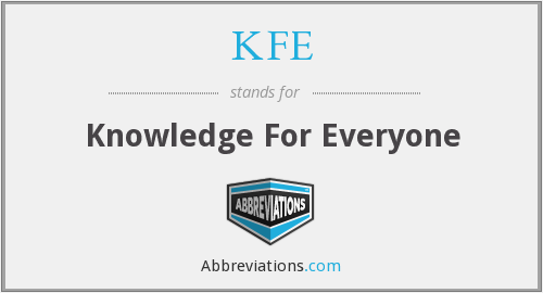 KFE - Knowledge For Everyone