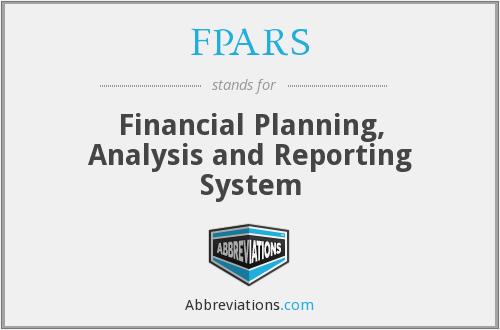 FPARS - Financial Planning, Analysis and Reporting System