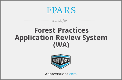 FPARS - Forest Practices Application Review System (WA)