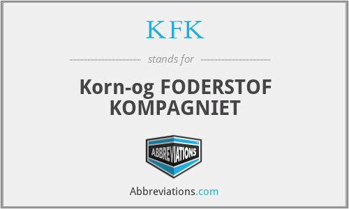 KFK - Korn-og FODERSTOF KOMPAGNIET