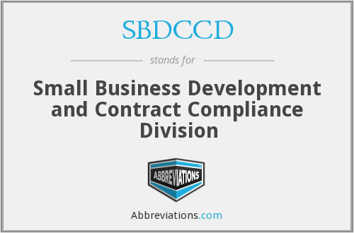 SBDCCD - Small Business Development and Contract Compliance Division