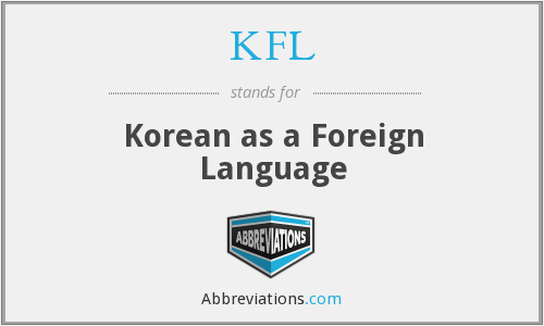 KFL - Korean as a Foreign Language
