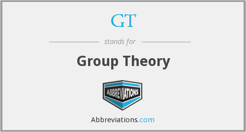GT - group theory
