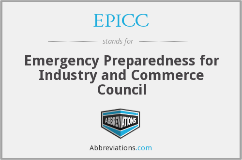 EPICC - Emergency Preparedness for Industry and Commerce Council