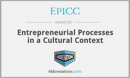 EPICC - Entrepreneurial Processes in a Cultural Context