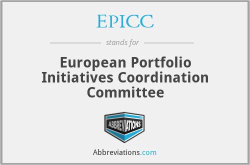 EPICC - European Portfolio Initiatives Coordination Committee