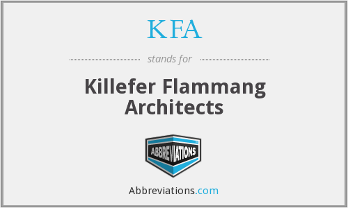 KFA - Killefer Flammang Architects