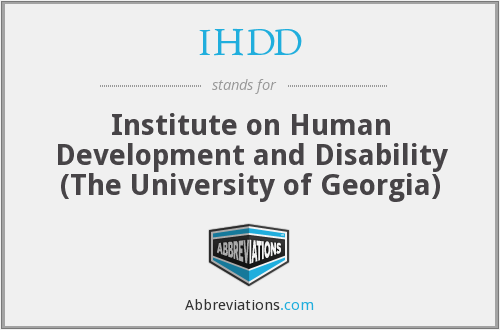 IHDD - Institute on Human Development and Disability (The University of Georgia)