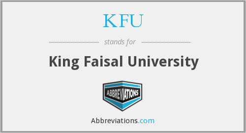 What does KFU stand for?