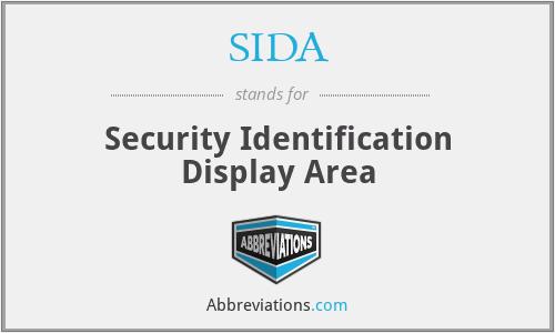 SIDA - Security Identification Display Area