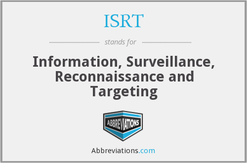 ISRT - Information, Surveillance, Reconnaissance and Targeting