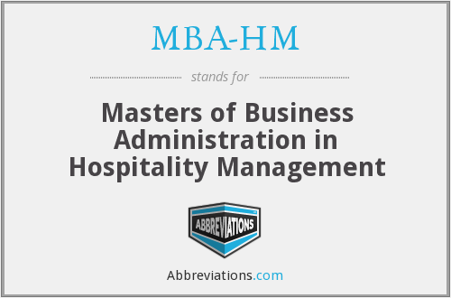 MBA-HM - Masters of Business Administration in Hospitality Management