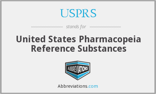 USPRS - United States Pharmacopeia Reference Substances