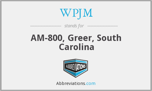 WPJM - AM-800, Greer, South Carolina