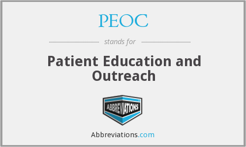 PEOC - Patient Education and Outreach