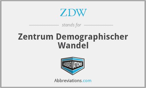 ZDW - Zentrum Demographischer Wandel