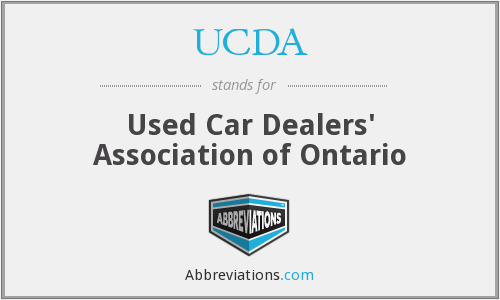 UCDA - Used Car Dealers' Association of Ontario